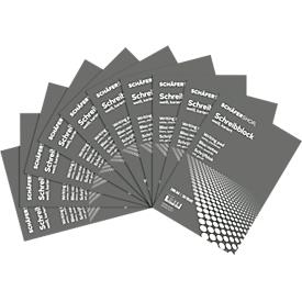 Bloc de notas Schäfer Shop Pure, formato A4, cuadrado, 10 p., blanco