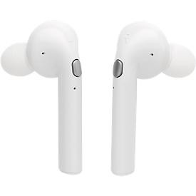 Bluetooth-Kopfhörer Liberty, 400 mAh Ladebox, Ohrstöpsel, weiß, Werbedruck 25 x 30/30 x 30 mm