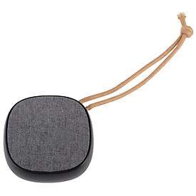 Bluetooth-Lautsprecher STRAP, 3 W, 10 m Reichweite, Kordel, Werbedruck 30 x 30 mm, schwarz