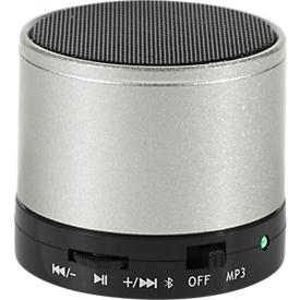 Bluetooth luidspreker, met SD-kaartslot/AUX/handsfree-functie, 3 watt, zilver