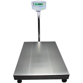 Boden-Kontrollwaage, Wägebereich 150  kg, Ablesbarkeit 10 g, m. LED-Anzeige, m. Windschutz
