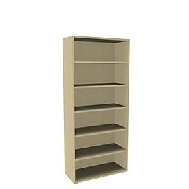 Boekenkast, 6 OH, fijne spaanplaat, B 1000 x D 450 x H 2300 mm, ahorndecor