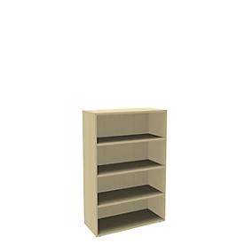 Boekenkast, spaanplaat, 4 OH, B 1000 x D 450 x H 1580 mm, ahorndecor