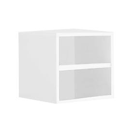 Boekenkast, spaanplaat, B 450 x D 395 x H 400 mm, wit