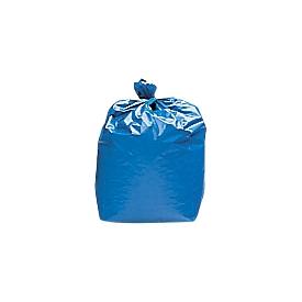 Bolsas de basura de polietileno de alta densidad, 120 litros, ancho 1000 x alto 800 mm, 45 micras, azul, 250 p