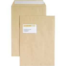 Bolsas de correo, con ventana, adhesivas, 100 g/m², DIN C4, 250 unidades, marrón natrón