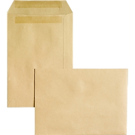Bolsas de correo, DIN C5, sin ventana, autoadhesivas, 500 piezas
