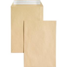 Bolsas de correo, sin ventana, adhesivas, 90 g/m², DIN C5, 500 unidades, marrón natrón