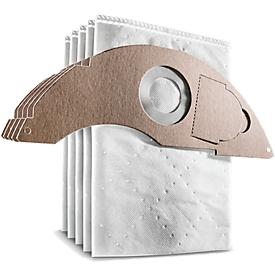 Bolsas de filtro Kärcher, para aspirador seco/húmedo NT 22/1 AP L y NT 22/1 AP TE L, tipo de polvo L, 5 unidades, fieltro, blanco