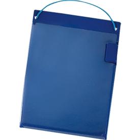 Bolsas de pedido, cierre de gancho y bucle, DIN A5, azul