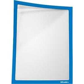 Bolsillo de información, magnético, película PET, A4 retrato/paisaje, azul, 5 piezas