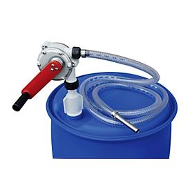 Bomba de manivela CEMO para AdBlue®, manguera 3m, con adaptador de barril S56x4