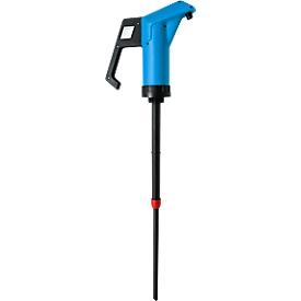 Bomba de palanca manual, 0,3 l/carrera, NBR, azul