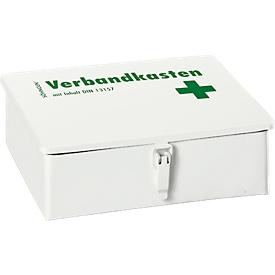 Botiquín Söhngen® KIEL, chapa de acero, blanco, con contenido según DIN 13157