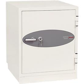 Brandbeveiligingskast DS 2003, sleutelslot, B 690 x D 720 x H 770 mm, staal, signaal wit RAL 9003, sleutelslot.