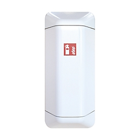Brandblusserkast help, kunststof, B 434 x D 225 x H 1028 mm, wit
