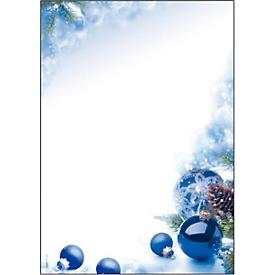 Briefpapier met kerstthema Sigel Blue Harmony, A4, 90 g/m², 100 vellen
