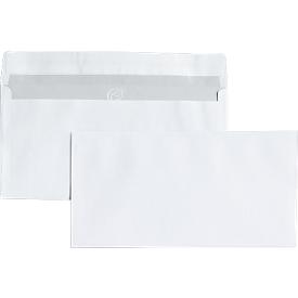 Briefumschläge, DIN lang, ohne Fenster, haftklebend, 25 Stück