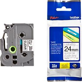 Brother Schriftbandkassette TZe-151, 24mm, farblos/schwarz