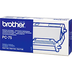 Brother thermo-transferband PC-75, 1 rol, zwart