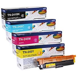 Brother Toner Sparpaket TN-241/245, CMYK-Bundle, schwarz,cyan, magenta, gelb, original