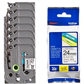 Brother voordeelset 24 mm lint beletteringssystemen TZe-251, 6 + 1 GRATIS