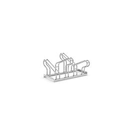 Bügelparker WSM, 2-seitig, für Reifen bis B 55 mm, B 700 x T 3200 x H 500 mm, Stahl feuerverzinkt, 4 Einstellplätze, zerlegt