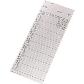 BÜRK Stempelkarte, kodiert, für Zeiterfassungsgerät ZR5500, 200 Stück