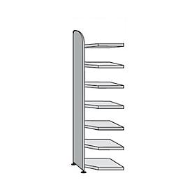 Büroregal Dante®, Eckregalfeld, H 2600 x B 600 mm, ohne Rückwand, lichtgrau