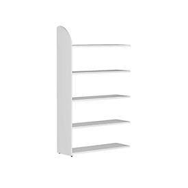 Büroregal Dante®, Regalfeld, H 1900 x B 1000 mm, ohne Rückwand, weiß