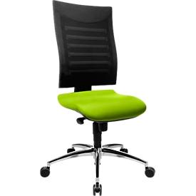 Bürostuhl SSI PROLINE S2, Synchronmechanik, ohne Armlehnen, 3D-Netz-Rückenlehne, Bandscheibensitz, apfelgrün/schwarz