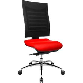 Bürostuhl SSI Proline S3, ohne Armlehnen, Synchronmechanik, ergonomische Lehne, rot/schwarz