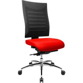 Bürostuhl SSI PROLINE S3+, Synchronmechanik, ohne Armlehnen, 3D-Netz-Rückenlehne, 3D-Sitzgelenk, rot/schwarz