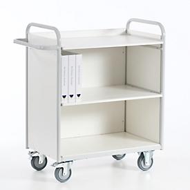 Bürowagen mit Seitenwänden und Rückwand, 800 x 490 mm, Tragkraft 150 kg