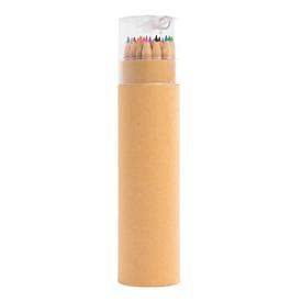 Buntstiftebox, 24 Stifte, lang, Standard, Auswahl Werbeanbringung optional