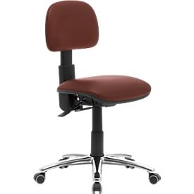 Bureau- of werkstoel 764 Leyform, met verstelbare rugleuning, donkerbruin