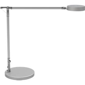 Bureaulamp LED MAULgrace, touchdimmer 4-voudig, met dubbele arm van aluminium, 300 lm, zilver
