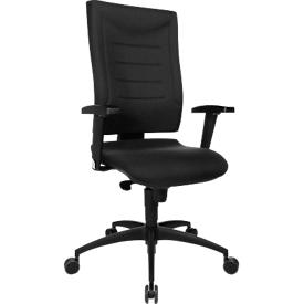 Bureaustoel SSI Proline P1, synchroonmechanisme, met armleuningen & lendenwervelsteun, ergonomisch gevormde wervelsteun