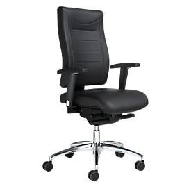 Bureaustoel SSI PROLINE P3+ DELUXE, 3D-mechanisme, zonder armleuningen, hoge rugleuning, zonder hoofdsteun