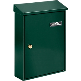Burg Wächter Briefkasten Letter, Stahlblech, Einwurf DIN C4, abschließbar, Grün