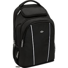 Business Rucksack WEDO, Polyester, Fächer f. Notebook/Tablet, Rückenpolster, 28 l, schwarz