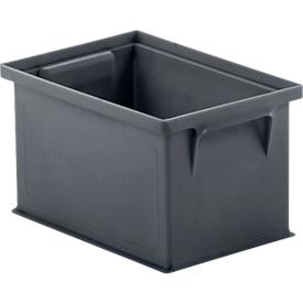 Caja apilable 14/6-4, 3,6l, gris hierro, 40 unidades