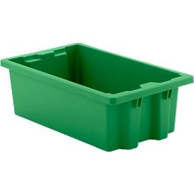 Caja apilable por giro FB 530, 17l, verde