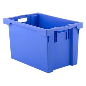 Caja apilable por giro FB 604, 62l, azul