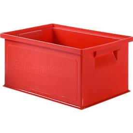 Caja apilable serie 14/6-3, polipropileno, capacidad 7 l, rojo