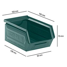 Caja con abertura frontal 14/7-5, acero, 0,9l, azul grisáceo lacado