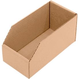 Caja con abertura frontal, L 200 x An 100 x Al 100mm, 1,7l, 50 unidades