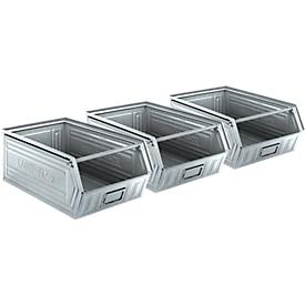 Caja con abertura frontal serie LF 14/7-2, acero, capacidad 26l, 3 unidades