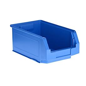 Caja con abertura frontal SSI Schäfer LF 321, polipropileno, L 350 x An 220 x Al 145mm, 7,5l, azul, 5 unidades