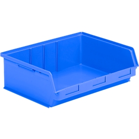 Caja con abertura frontal SSI Schäfer LF 351 ZW, polipropileno, L 348 x An 470 x Al 145mm, 17l, azul